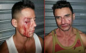 The unidentified victims of a gaybashing outside of a Midtown Manhattan PATH station
